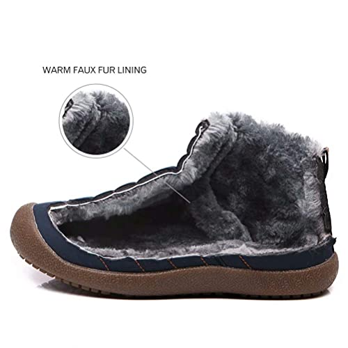 S-BAO Boys Snow Boots Waterproof Cold Weather Winter Faux Fur Ankle Shoes SBGW3808
