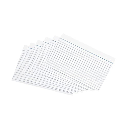 A6 Record Cards 8mm Lined Classic Lines Pack of 200 printed on both sides