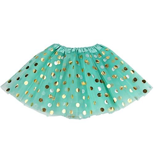 Jastore Baby Girls Polka Dot Tutu Glitter Ballet Triple Layer Tulle Dance Skirt