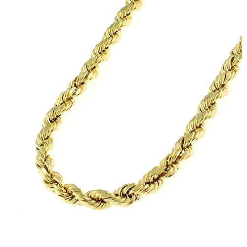 9d6f5458116fa Buy 14K Solid Yellow Gold 1.5mm, 2mm, or 3.2mm Diamond Cut Rope ...