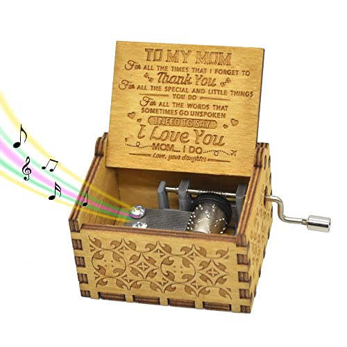 Black Engrave You Are My Sunshine Hand Crank Music Box