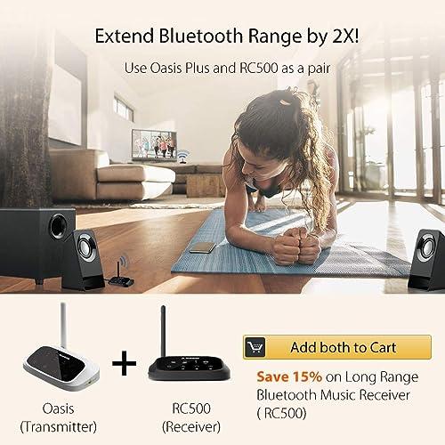 Avantree RC500 Bluetooth Receiver for Home Stereo AV Receiver 100ft Long Range