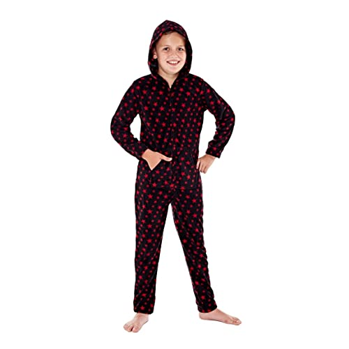 i-Smalls Girls Boys Leopard or Heart Print or Tiger Fleece Hooded Onesie All in One