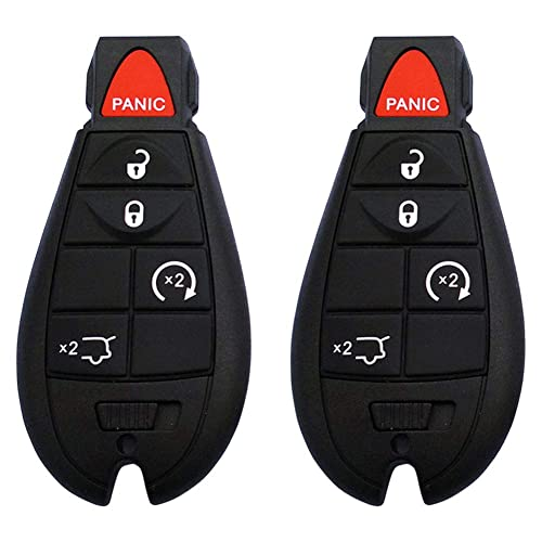 YITAMOTOR Key Fob Compatible for 2014-2018 Jeep Grand Cherokee 4-Button Keyless Remote Replacement for M3N-40821302