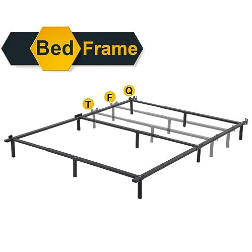 Queen Bed Frame Metal Platform Folding, Bed Frame Box Spring Queen Folding Metal Mattress Foundation