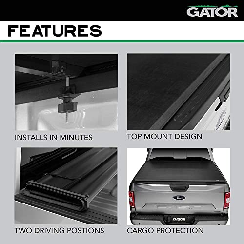 59406 5 1//2 ft Bed Without Rail System Gator ETX Soft Tri-Fold Truck Bed Tonneau Cover fits Toyota Tundra 2014-19