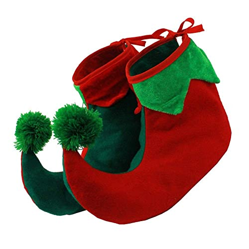 12 Pair Christmas Santa/'s Little Helper Elf Shoes W//Bells Adult One Size