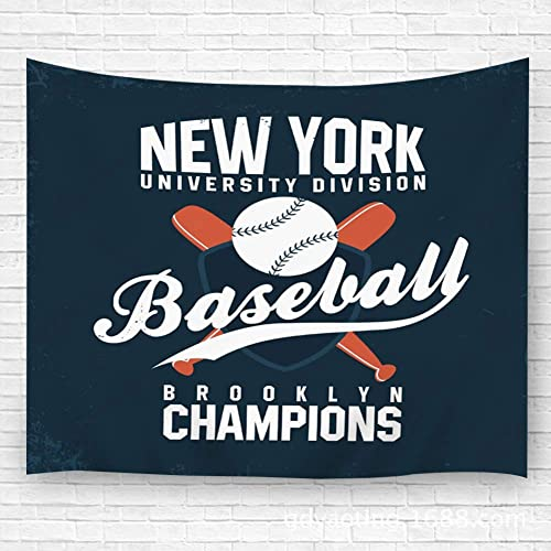 Buy Txregxy Wall Hanging Tapestrywall Hanging Decor Baseball New York Vintage Ball Bats Shield Home Living Room Bedroom Decor Carpet 59 1 H X90 5w Online In Kuwait B07ztfjdnw