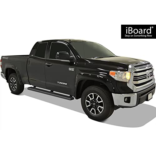 iBoard Stainless Steel 5-inch Running Boards Fit 07-20 Toyota Tundra Double Cab