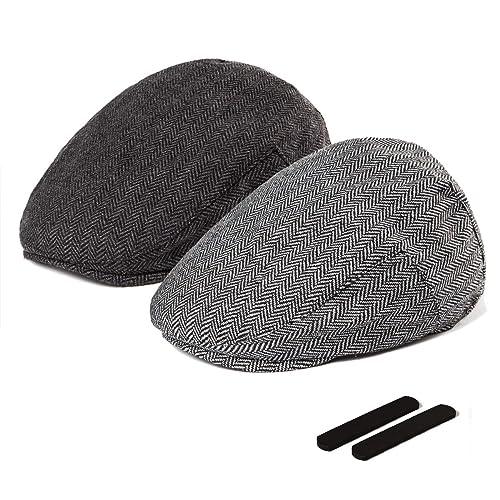 2576abd1cf LADYBRO Men Newsboy Cap Ivy Hat - 30% Wool Cabbie Hats for Men Irish Tweed  Flat Cap