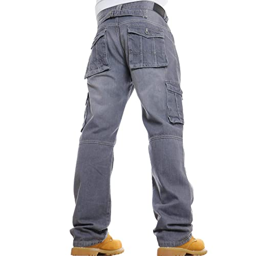 Black and Grey VOID LONDON Mens Stretch Bootcut Fit Denim Jeans by JEANBASE in Blue