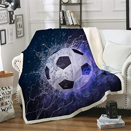 Moslion Comfy Bath Towels Soccer Ball in Water and in Fire and ice Soft Bathing//Beach//Camping Towel for Women Men Girls Boys Large Size 64x32 Inches