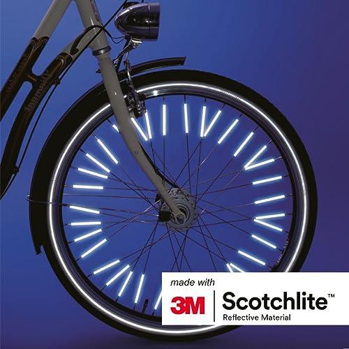 made with 3M Scotchlite Bicycle Clips for all standard bike spokes Salzmann 3M Spoke Reflectors 72 pcs