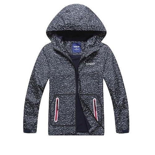 LAUSONS Boys Waterproof Jacket Toddler Girls Camo Windbreaker with Hood