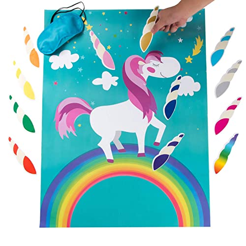 Henbrandt Pin The Horn On The Unicorn Party Game Girls Kids Fairies Accessories Birthday