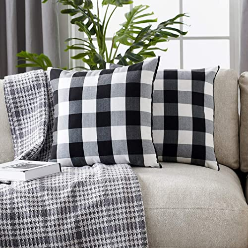 """Gingham checkered polyester 18/""""x 18/""""  Pillow Cover Home Decor 1 Cover"""