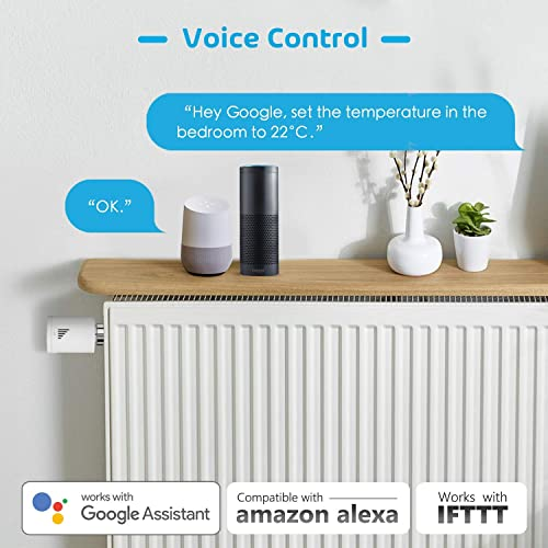 Meross Smart Heating Radiator Thermostat with Starter Kit Works with  Alexa IFTTT Intelligent Heating Control Google Home