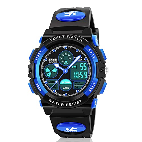 Buy Dodosky Boy Toys Age 6 12 Led 50m Waterproof Digital Sport Watches For Kids Birthday Presents Gifts For 5 12 Year Old Boys Blue Online In Kuwait B07t75ds5r