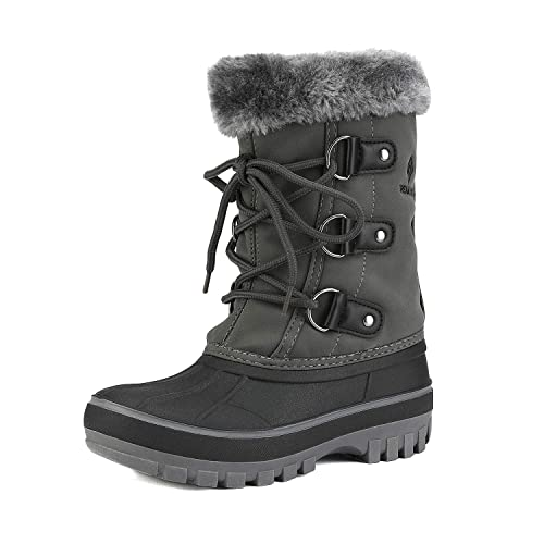 DREAM PAIRS Boys /& Girls Toddler//Little Kid//Big Kid Faux Fur-Lined Ankle Winter Snow Boots