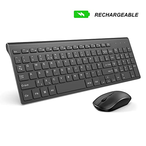 Laptop Desktop Black PC seenda 2.4GHz Silent USB Wireless Keyboard Mouse Combo with Numeric Keypad for Computer Smart TV and Windows 10//8// 7 Wireless Keyboard and Mouse Surface