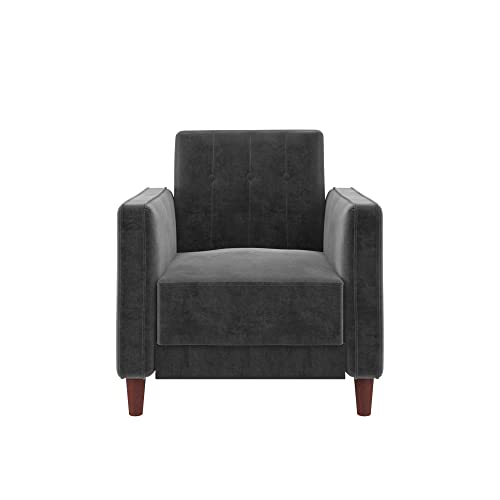 Outstanding Buy Dhp Ivana Accent Chair Grey Velvet With Ubuy Kuwait Machost Co Dining Chair Design Ideas Machostcouk
