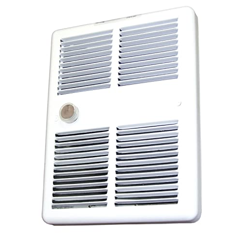 8.33 Amps Standard Model Built-in Single Pole Thermostat 1000 W TPI E3210TRPW Series 3200 Midsized Fan Forced Wall Heater with Wall Box