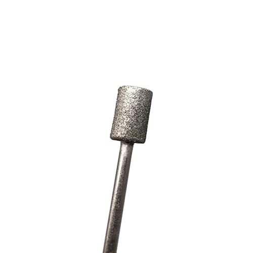 3mm Shank 20Pcs Diamond Grinding Bits 4mm Cylinder Head 45mm Long Diamond Coated Burr Mounted Point