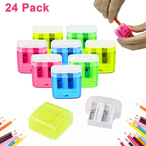 Pencil Sharpener for Kids 3 Hole Rust-proof Spiral Blade for Standard Pencils 4PCS Pencil Sharpener School Stationery and Office Supplies Portable Pencil Sharpener Manual