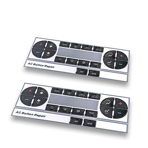 Tahoe Traverse Acadia RADIO A//C CLIMATE CONTROL Button Repair Decals Stickers
