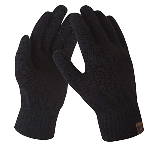 Mens Womens Winter Warm Thermal Knit Knitted One Size Stretch Unisex Gloves