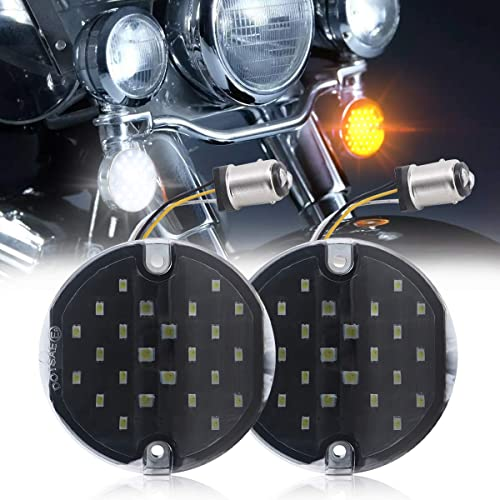"""PBYMT 4pcs Amber 3 1//4/"""" Flat Style Turn Signal Light Lens Cover Compatible for Harley Road King Electra Glide 1986-2019"""