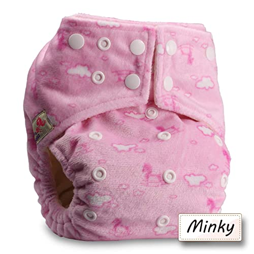 Without Insert Pattern 30 Reusable Pocket Real Cloth Nappy Washable Diaper Bamboo Charcoal Littles /& Bloomz