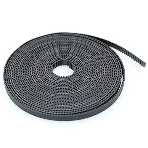 5 Meters Rubber GT2 2mm Pitch 6mm Wide Open Timing Belt 8Pcs 5mm 20 Teeth for
