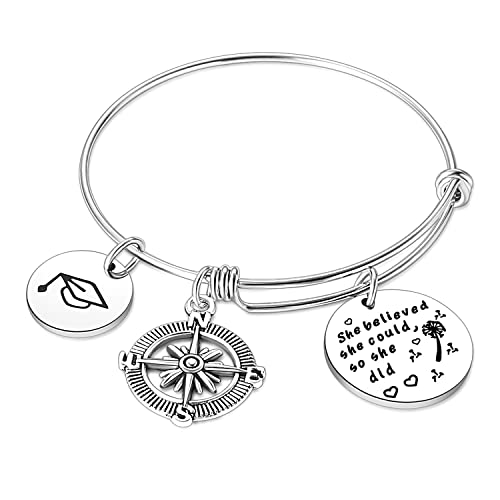bobauna Scales of Justice Lawyer Stainless Steel Expandable Wire Bangle Bracelet Gift for Lawyer Justice Law School Student