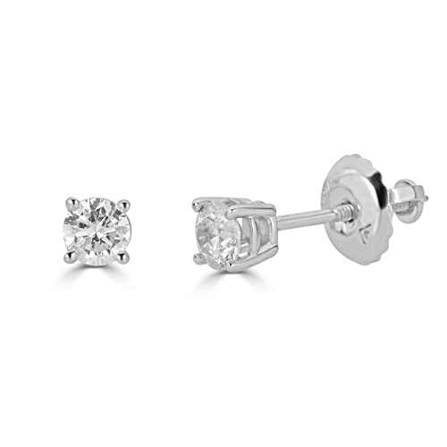 5d0e36392a20df Buy AGS Certified 14K Gold Round-Cut Diamond Stud Earring (1/4 - 2 cttw,  K-L Color, I1-I2 Clarity) with Ubuy Kuwait. B075XT6282