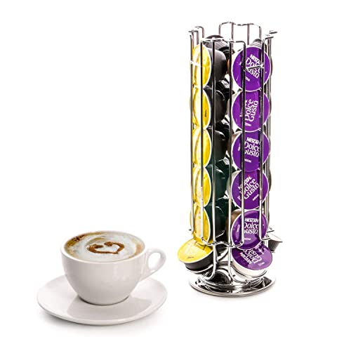 2 x StormBrew Dolce Gusto 24 Coffee Pod Rotating Holder Rack 2, Black Capsule Stand