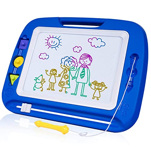 Purple Colorful Scribble Pad for Toddlers Peradix Magnetic Drawing Doodle Board with 2 Magnetic Pens and Stickers,Kids Erasable Drawing Board Magnetic Board for Kids Doodle Pad for Kids
