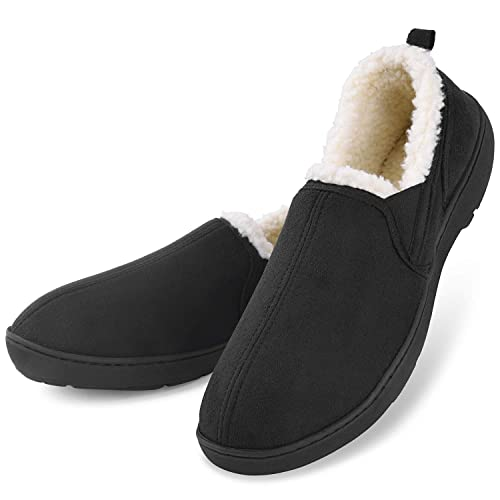 af41131b62aeb Buy Men's Moccasin Slippers House Shoes Clogs Micro Suede Memory Foam  Wool-Like Plush Fleece Lined Anti-Skid Home Indoor/Outdoor Footwear with  Ubuy Kuwait.