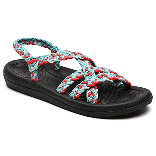 8577459355a8c Buy MEGNYA Women's Comfortable Flat Walking Sandals with Arch ...