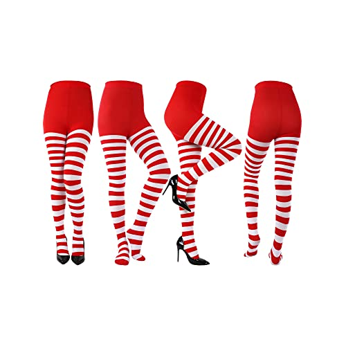 Patricks Day Cosplay Themed Party Patricks Day Striped Tights Thigh High Socks Panty-hose for St Sumind 4 Pairs Women St