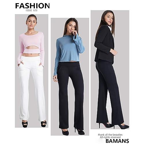 c71eabea18032 PrevNext. PrevNext. Bamans Womens Bootcut Yoga Pants with Pockets Tummy  Control Petite ...