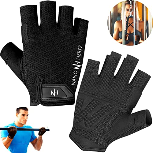 Rowing Callus-Guard Gym Barehand Grips NH Weight-Lifting Workout Crossfit Fitness Gloves Support Alpha Cross-Training Pull Up for Men /& Women Power-Lifting