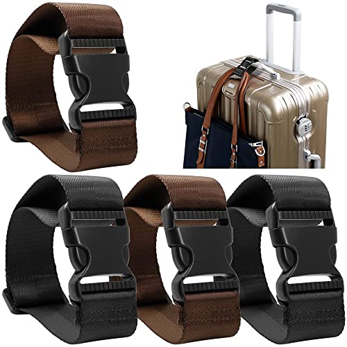 Add A Bag Luggage Strap Accessories for Travel Suitcase Belt Adjustable Connector Stacker Connect Your 3 Luggages 4 Color by Ajmyonsp