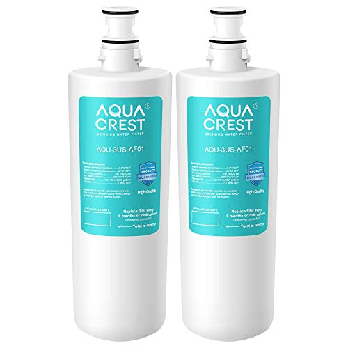 Pack of 2 3US-AS01 Whirlpool WHCF-SRC Waterdrop Undersink Water Filter WHCF-SUFC WHCF-SUF Compatible with Standard Filtrete 3US-AF01