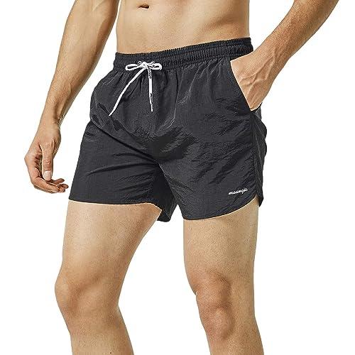 Men/'s Swim Trunks Beach Board Swimwear Shorts Dog in A Red Sunglasses Swimming Short Pants Quick Dry Water Shorts Mesh Lining