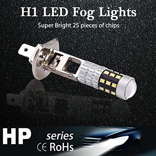 pack of 2 CCAUTOVIE Car Led Headlight Bulbs H7 All in one Conversion Kit 6500K White 5000LM Halogen Headlight Replacement