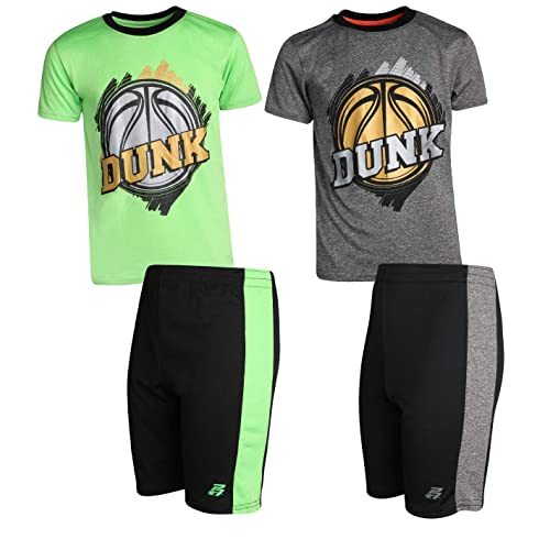 Shorts Hind Boys 3-PC Athletic Performance T Shirts and Joggers for Boys