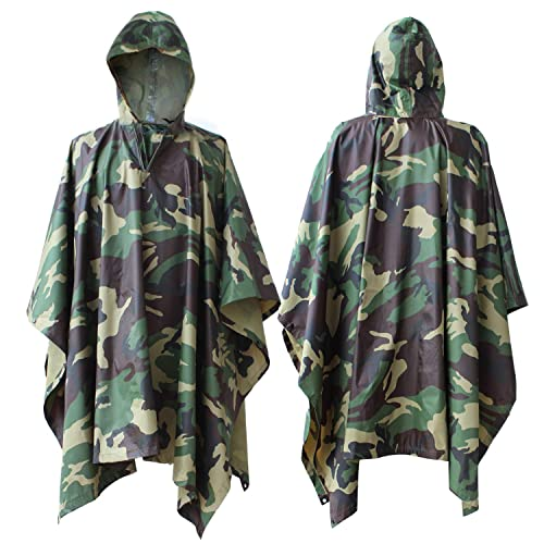 Raincoat Poncho Cape Tarp Mat Camping Outdoor Hiking Climbing Camouflage