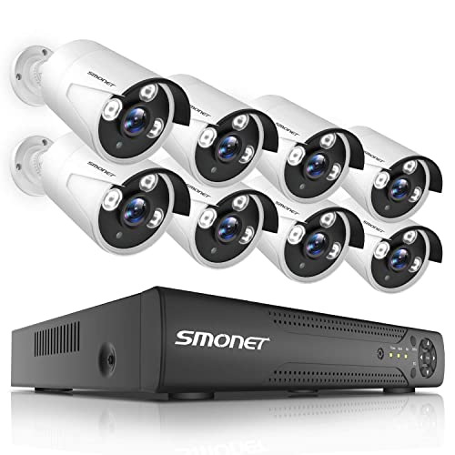 Security Camera System Wired 8CH HD 1080N Home DVR Kit Wired With 1TB Hard Drive