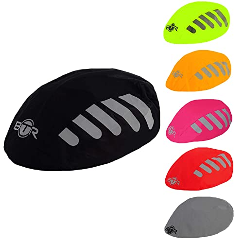 BTR Waterproof High Visibility Reflective Bicycle Helmet Covers x 2